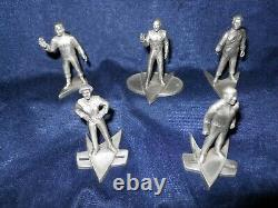 5 STAR TREK CAPTAIN's. RAWCLIFFE PEWTER RARE LIMITED EDITIONS 1993