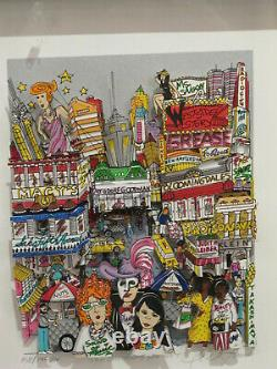 CHARLES FAZZINO THE CHARACTERS YOU MEET Deluxe 3D Serigraph