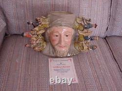 Doulton Character Jug Rare Chaucer Limited Edition Signed certificate large
