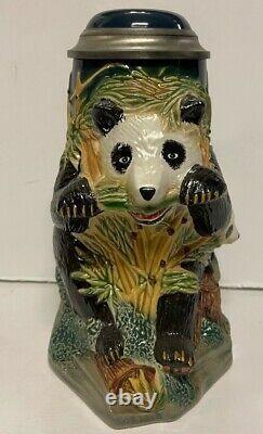 Giant Panda Limited Edition Character Lidded Stein Anheuser-Busch Gerz GM8