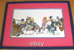 Hanna Barbera TOM AND JERRY & Host of 1940 MGM characters Signed RED HOT CEL