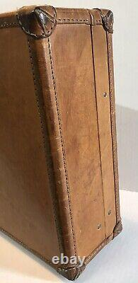 Hartmann Belting Leather Presidential Diplomat Briefcase Old Logo WithCharacter