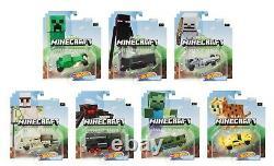 Hot Wheels 2020 Minecraft Character Cars Set of 7, 1/64 Diecast Car GJJ23-999B