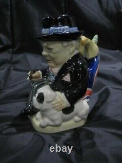 Kevin Francis Character Jug Little Winston Limited Edition With Bulldog Ex Condi