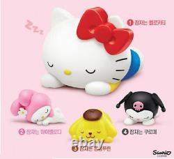 LOTTERIA Sleeping Sanrio Characters Figure Set of 4p Hello Kitty Limited Edition