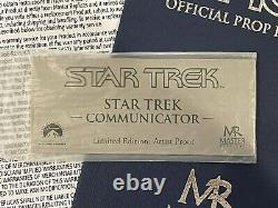 Master Replicas Star Trek TOS Communicator ARTIST PROOF Limited Edition Prop