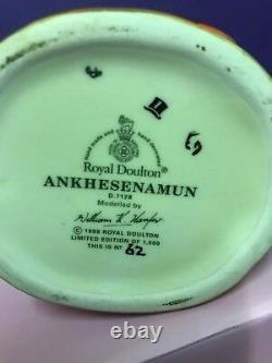 Medium Royal Doulton Character Jug Ankhesenamun D7128 Limited Edition With Cert