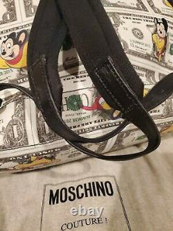 Moschino Mighty Mouse Backpack 100% Authentic PVC Moschino Couture Milano