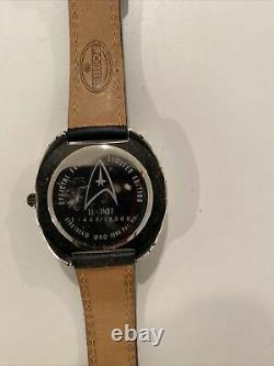 New Star Trek LI-1407 Limited Edition Fossil Mens (11,445/15,000) USS Enterprise