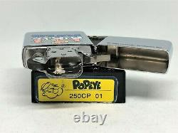 New ZIPPO 1994 Limited Edition Popeye Character Print Cartoon Lighter Silver