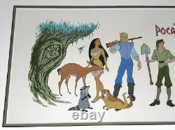Pocahontas Limited Edition Sericel Cel Disney Character Model Sheet Animation LG