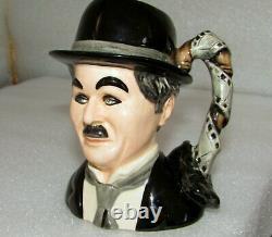 Royal Doulton Charlie Chaplin D7145 Character Jug Limited Edition