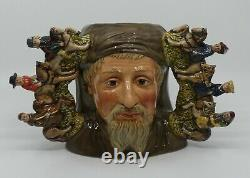 Royal Doulton Ltd Edition double handled character jug Geoffrey Chaucer D7029