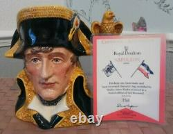 Royal doulton(item530) NAPOLEON D6941 LARGE CHARACTER JUG. LIMITED EDITION mint