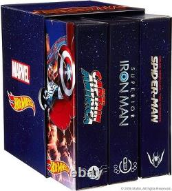 SDCC 2015 Exclusive Hot Wheels Marvel Secret Wars 3- Pack Character Car New MIB