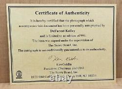 STAR TREK LIMITED EDITION PLAQUE DR. LEONARD McCOY DeFOREST KELLEY SIGNED COA