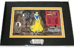 Snow White JUMBO LE Disney Pin Seven Dwarfs Character Key Classic Dress RARE New