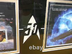 Star Trek 2016 50th Limited Edition Canada Stamp Framed Signed Shatner Cpt Kirk