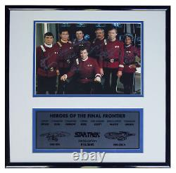 Star Trek Cast Signed Photo - Limited Edition by 7