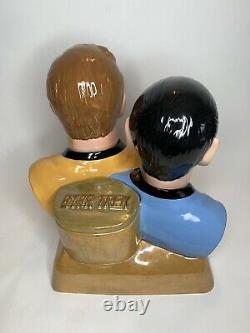 Star Trek SPOCK & CAPTAIN KIRK Cookie Jar Limited Edition 95/1000 Treasure Craft