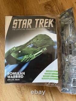 Star Trek U. S. S. ROMULAN WARBIRD limited edition XL model Eaglemoss rare xl