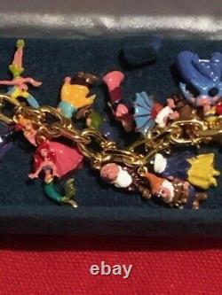 The Ultimate Disney Classic 37 Character Charm bracelet 24 karat Gold Plated