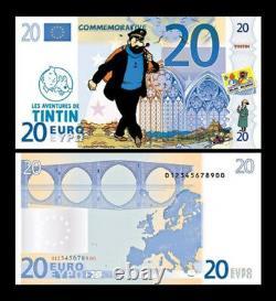 Tintin'main characters' euro banknotes 7pcs STRICT Limited Edition 500pcs