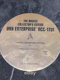 U. S. S Enterprise NCC-1701 Bronze Collectors Edition Limited Signature Edition