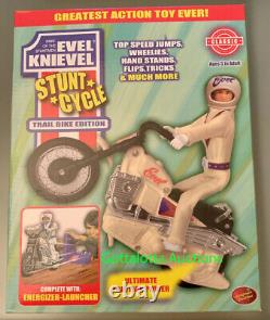 VARIANT LIMITED EDITION Evel Knievel Stunt Cycle White Trail Bike 70's Daredevil