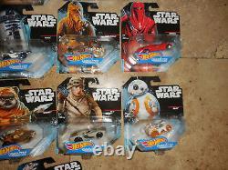 17 Hot Wheels Star Wars Character Cars & Carships Y Compris Imperial Royal Guard