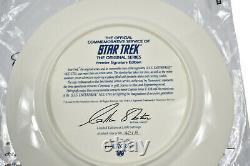 1993 Pfaltzgraff Star Trek 3-pc Buffet Set Uss Enterprise Ncc-1701 Bone Chine