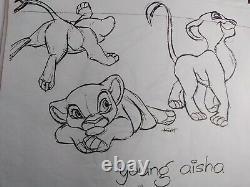 Dessins De Préproduction Du Roi II De Walt Disney. Caractère Principal Kovu