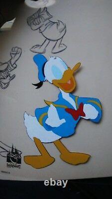 Disney Animation Donald Duck Character Model Sheet Edition Limitée Peint À La Main