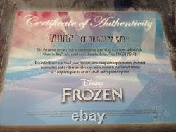 Disney Anna Frozen Clé De Caractère Matted Cel Edition Limitée À 500 Exemplaires De Bonus Doll