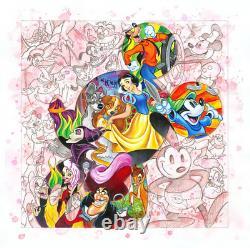 Disney Fine Art Edition Limitée Canvas Caractères Colorés-tim Rogerson