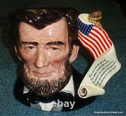 Édition Limitée Président Abraham Lincoln Royal Doulton Caractère Toby Jug D6936