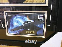 Étoile Trek 2016 50e Édition Limitée Timbre Du Canada Signé Shatner Cpt Kirk