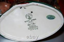 Grand Personnage Royal Doulton Jug King John D7125 Edition Limitée
