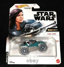 Hot Wheels Disney Star Wars Caractère Voiture Le Mandalorian Cara Dune Nouveau Dans La Main