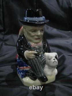 Kevin Francis Personnage Jug Little Winston Edition Limitée Avec Bulldog Ex Condi