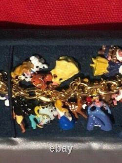 L'ultime Disney Classic 37 Bracelet De Charme De Caractère 24 Carats Plaqué Or