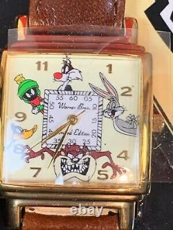 Looney Tunes Personnages Watch Warner Bros #1159 Limited Edition Boîte Originale 463
