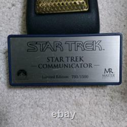 Master Replicas Star Trek Communicator 1/1 Limited Edition 793/1500 Du Japon