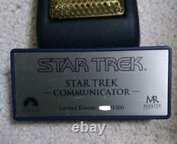 Master Replicas Star Trek Communicator 1500 Edition Limitée Prop