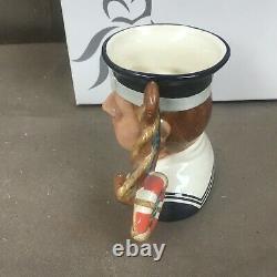 Medium Royal Doulton Personnage Toby Mug Sailor Jug Avec La Boîte D 7263