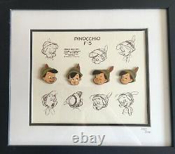 New Disney Gallery Pinocchio Character Model Framed Pin Set 4 Pins Lmtd. L'objectif Est D'améliorer La Qualité De L'eau Et La Qualité De L'eau Et De L'eau.