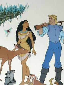 Pocahontas Edition Limitée Sericel Cel Disney Caractère Feuillet D'animation Lg