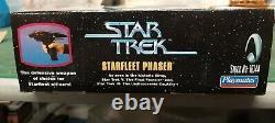 Rare Star Trek Type II Starfleet Phaser Playmates Edition Limitée Lights Sounds