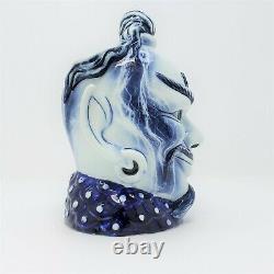 Royal Doulton Blue Flambe Aladdins Genie Grand Personnage Jug D6971