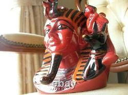 Royal Doulton Caractère Toby Jug Pharaon Flambe Edition Limitée + Cert D7028